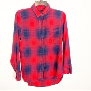 MADEWELL PLAID FLANNEL SHIRT SIZE SMALL- classic